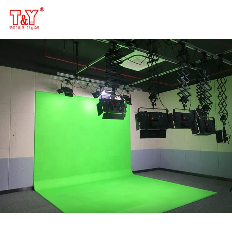 (L-shaped)Video studio background no-paint module collaps chroma key green screen