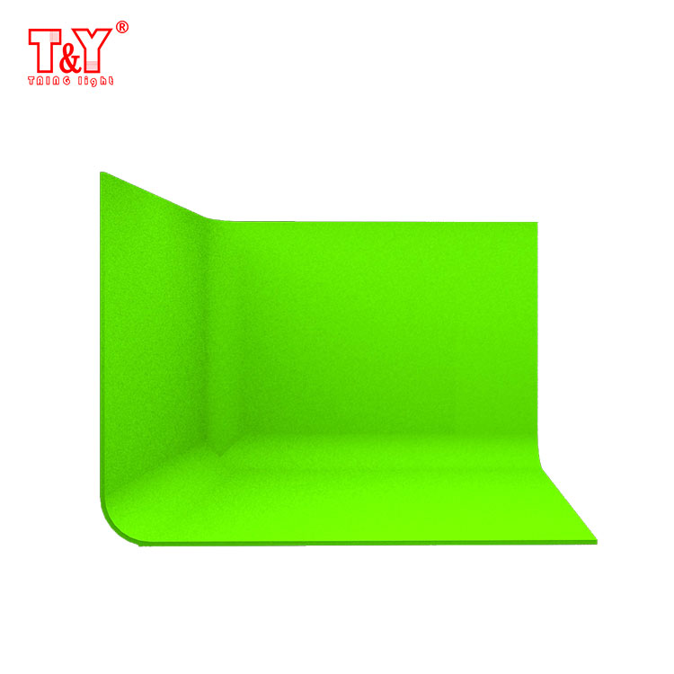 (fan-shaped)Anak foto studio photography background green screen chroma key
