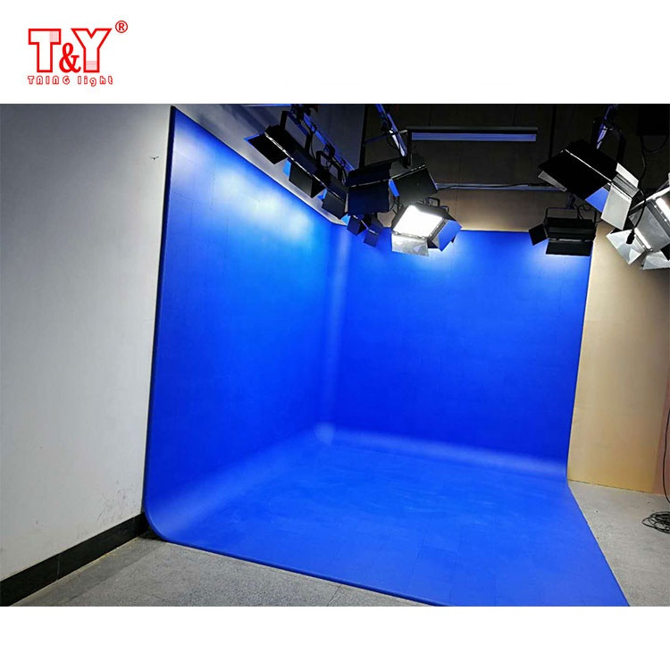 (Sector-shaped) studio photography background green screen chroma key