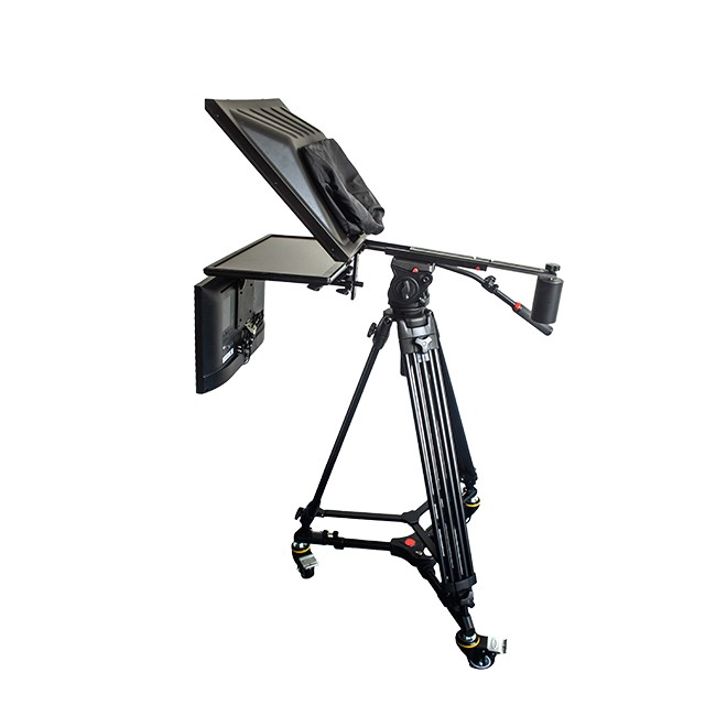 "TV Broadcast 19"" Studio Professional Teleprompter with Self-test Screen"