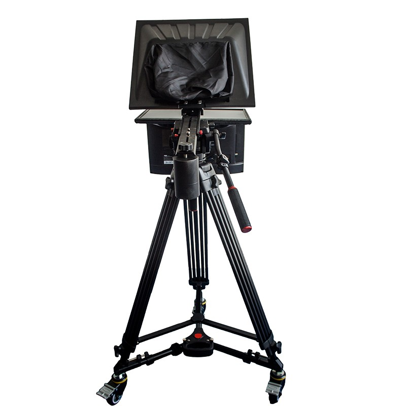 "TV Broadcast 22"" Studio Professional Teleprompter with Self-test Screen"