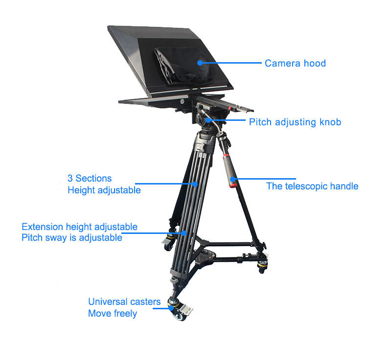 "TV Broadcast 22"" Studio Professional Teleprompter (图2)"