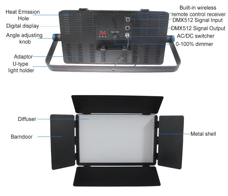 TY-LED1800 Studio Panel Light 120W(图2)