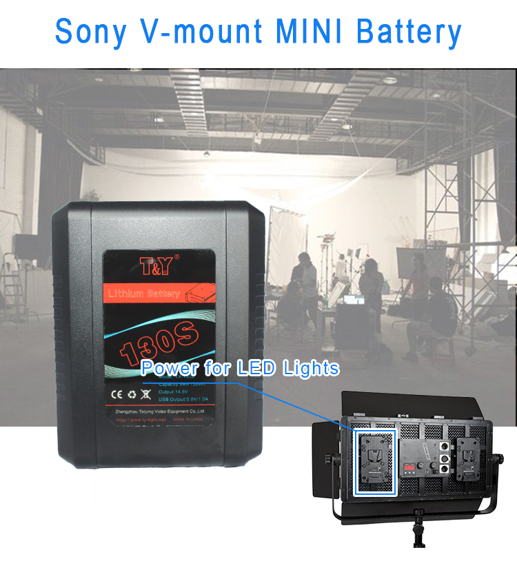 Compact V-mount battery 130Wh with USB & D-tap(图1)