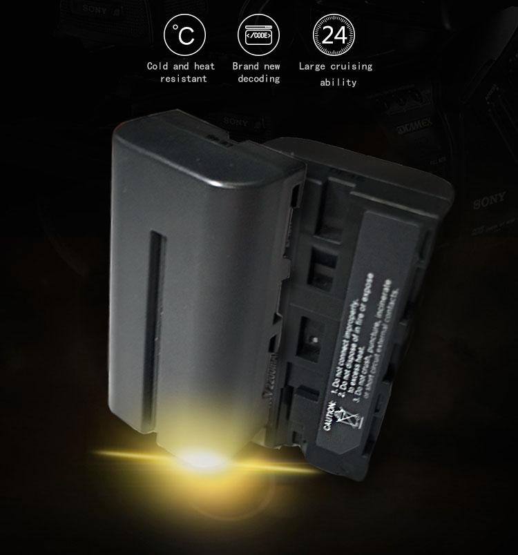 2200mAh digital camera battery as Sony NP-F550(图1)